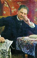 Portrait of J.M. Vengerov, 1915, repin