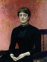 Portrait of Jelizaveta Zvantseva, 1889, repin