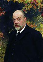 Portrait of Kryuchkov, 1908, repin