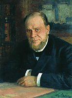 Portrait of lawyer Anatoly Fyodorovichm Koni, 1898, repin