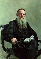 Portrait of Leo Tolstoy, 1887, repin