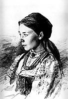 Portrait of Maria Artsybasheva, repin