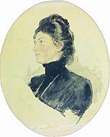 Portrait of Maria Borisovna Chukovskaya, repin