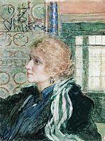 Portrait of Maria Klopushina, repin
