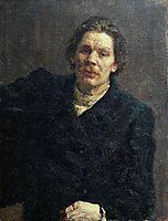 Portrait of Maxim Gorky, 1899, repin