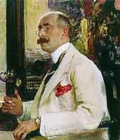 Portrait of N.D. Ermakov, 1914, repin