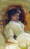 Portrait of N.I. Repina, 1896, repin
