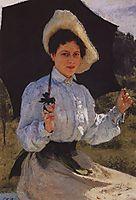 Portrait of Nadezhda Repina, the Artist-s Daughter, 1900, repin