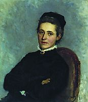 Portrait of of Julia Bogdanovna Repman, born Krause, wife of Dr. A.H. Repman, 1881, repin