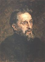 Portrait of painter Grigory Grigoryevich Myasoyedov, 1883, repin