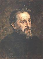 Portrait of painter Grigory Grigoryevich Myasoyedov, 1883, repin