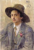 Portrait of the painter Isaak Izrailevich Brodsky, 1913, repin