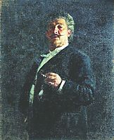 Portrait of painter and sculptor Mikhail Osipovich Mikeshin, 1888, repin