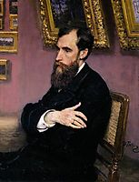 Portrait of Pavel Tretyakov, Founder of the Tretyakov Gallery, 1883, repin