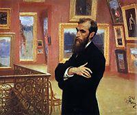 Portrait of Pavel Tretyakov, Founder of the Tretyakov Gallery, 1901, repin