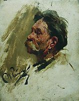 Portrait of a peasant, repin