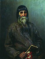 Portrait of a Peasant, 1889, repin