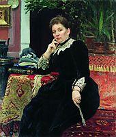 Portrait of the philanthropist Olga Sergeyevna Aleksandrova-Heinz, repin