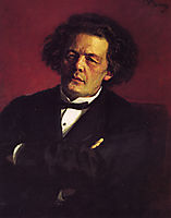 Portrait of the pianist, conductor and composer Anton Grigorievich Rubinstein, 1881, repin