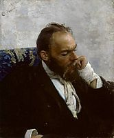 Portrait of Professor Ivanov, 1882, repin