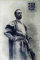 Portrait of Romanov, repin