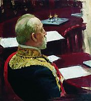Portrait of Secretary of State, general and member of State Council Mikhail Nikolayevich Galkin-Vraskoi, 1903, repin