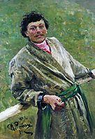 Portrait of Sidor Shavrov, 1892, repin