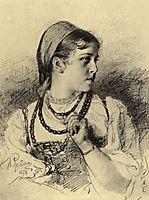 Portrait of T. A. Mamontova, repin
