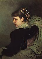 Portrait of Tatiana Rechinskay, 1882, repin