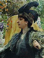 Portrait of V. V. Verevkina, repin