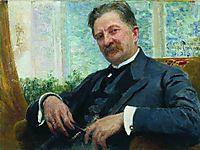 Portrait of Vengerov, 1916, repin
