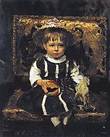Portrait of Vera Repina, 1874, repin