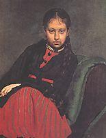 Portrait of Vera Shevtsova, 1869, repin