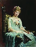 Portrait of a Woman (E.D. Botkina), repin