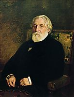 Portrait of writer Ivan Sergeyevich Turgenev, 1874, repin