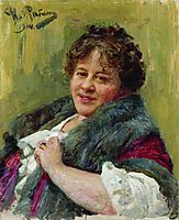 Portrait of the writer T.L. Shchepkina-Kupernik, 1914, repin