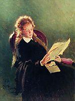 Reading girl, repin
