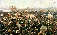 Reception for Local Cossack Leaders by Alexander III in the Court of the Petrovsky Palace in Moscow, 1885, repin