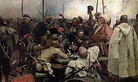 The Reply of the Zaporozhian Cossacks to Sultan Mahmoud IV, repin