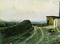 The road from Montmartre in Paris , 1876, repin