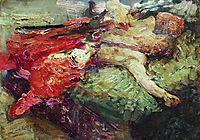 Sleeping Cossack, 1914, repin