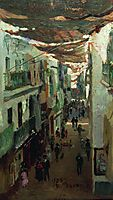 Street of the Snakes in Seville, 1883, repin