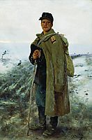 To his homeland. The hero of the last war, 1878, repin