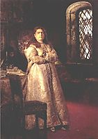 Tsarevna Sophia Alexeevna in the Novodevitchy Convent, 1879, repin