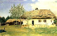 Ukrainian peasant house, 1880, repin