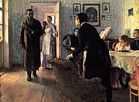 Unexpected Visitors, 1888, repin