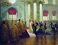 Wedding of Nicholas II and Grand Princess Alexandra Fyodorovna, 1894, repin