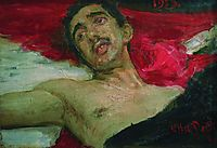 Wounded man, 1913, repin