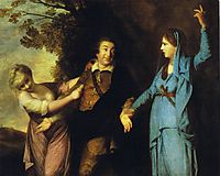 Garrick Between Tragedy and Comedy, 1761, reynolds