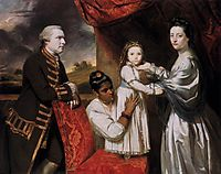 George Clive and his Family with an Indian Maid, 1765, reynolds